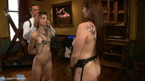 One lady sub holds a vibrator against th - XXX Dessert - Picture 9