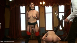 One lady sub holds a vibrator against th - XXX Dessert - Picture 18