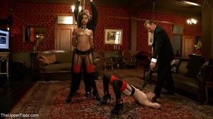 A trio of slutty slaves are subjected to - XXX Dessert - Picture 9