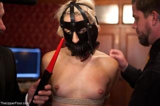 blonde submissive showcases impressive