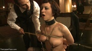 one two slaves throat-fucked