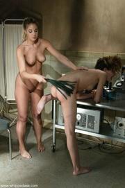 blonde nurse dominates over