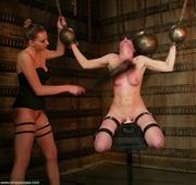 brunette lady gets tied