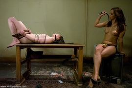 drilled, femdom, strapon, tied up