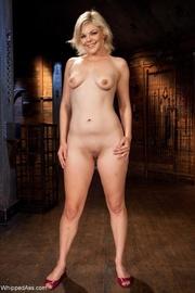 blonde cutie gets tied