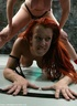 Redhead and blonde make a great show without hesitations