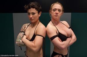 Fantastic lesbian wrestling sluts want t - XXX Dessert - Picture 5