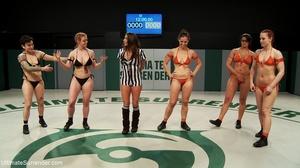 Fantastic lesbian wrestling sluts want t - XXX Dessert - Picture 6