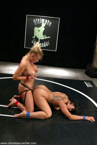 plump blonde female strapon