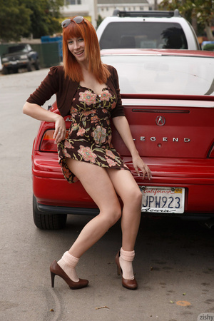 Busty redhead darling showing her beauti - XXX Dessert - Picture 2