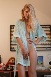 petite blonde gal having