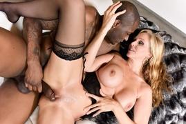 dick, ebony, interracial, lingerie