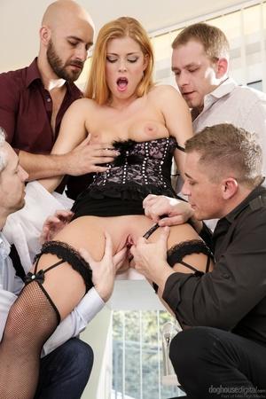 Alluring blonde in black lingerie fucked - XXX Dessert - Picture 7