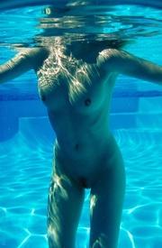 erotic blonde colorful bikini