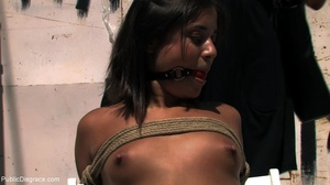 Dark-haired girl is face-fucked and led  - XXX Dessert - Picture 8