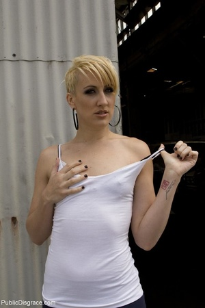 Short-haired skank is bound, fisted and  - XXX Dessert - Picture 2