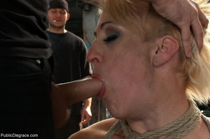 Short-haired skank is bound, fisted and  - XXX Dessert - Picture 9