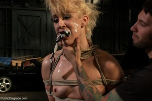 Short-haired skank is bound, fisted and  - XXX Dessert - Picture 17