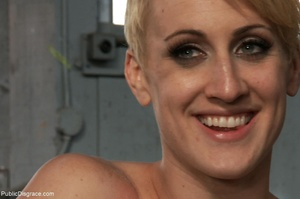 Short-haired skank is bound, fisted and  - XXX Dessert - Picture 18