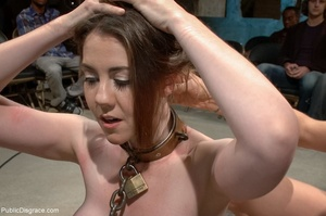 Dirty daddy's girl is put into a collar  - XXX Dessert - Picture 10