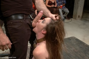 Dirty daddy's girl is put into a collar  - XXX Dessert - Picture 11