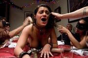 female slave hooked electrodes