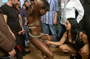 ebony submissive collects her