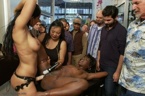 Ebony submissive collects her cum reward - XXX Dessert - Picture 14