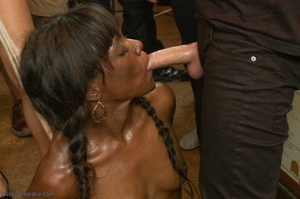 Ebony submissive collects her cum reward - XXX Dessert - Picture 17
