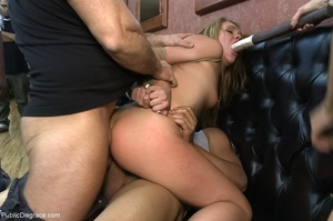 Slutty blonde bitch is bound and fucked  - XXX Dessert - Picture 10