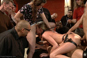 At a wild sex party, a gal is bound and  - XXX Dessert - Picture 17