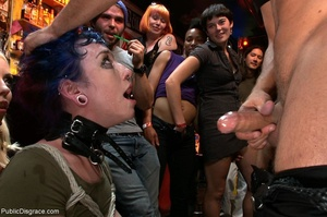 Blue-haired whore is choked, fucked and  - XXX Dessert - Picture 8