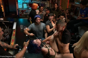 Blue-haired whore is choked, fucked and  - XXX Dessert - Picture 10