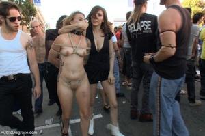 Blonde whore is led around a street fair - XXX Dessert - Picture 8