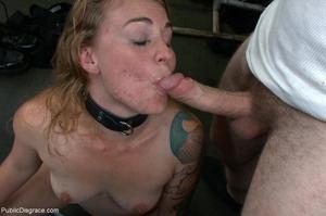 Blonde whore is led around a street fair - XXX Dessert - Picture 17