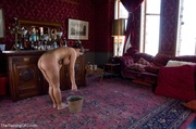 hot slave tends her