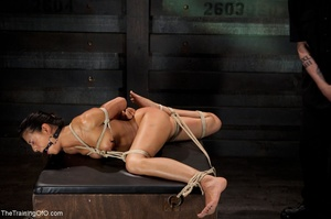 A ball gag and rope bondage bedevil a bo - XXX Dessert - Picture 8