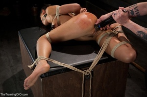 A ball gag and rope bondage bedevil a bo - XXX Dessert - Picture 11