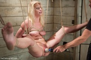 suspended blondie's white thong