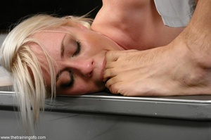 Toe-sucking, submissive blonde bombshell - XXX Dessert - Picture 12