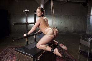 Metal pipes keep a slender cutie in plac - XXX Dessert - Picture 5