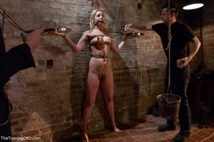 Slave girl collects cum in her hands aft - XXX Dessert - Picture 7