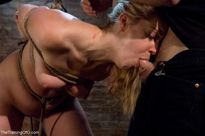 Slave girl collects cum in her hands aft - XXX Dessert - Picture 14