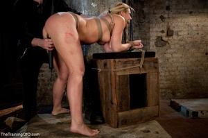 Slave girl collects cum in her hands aft - XXX Dessert - Picture 17