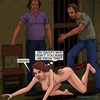 Curly haired slut gets fucked by two nasty dudes. Bad Lieutenant 3: Unlawful