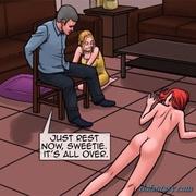 redhead slut gets gangbanged