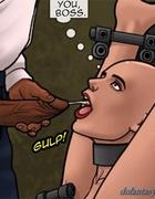 Horny boss gets sucked off by a mean bald slut. Bad Lieutenant 3: Unlawful