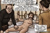Slutty schoolgirl gets undressed and examined by this nasty priest. In