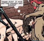 Two bitches get choked with a king size meat pole. Harem Horror Hell 5: