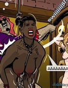 Curvy black slave gets her ass whipped by her master. Harem Horror Hell